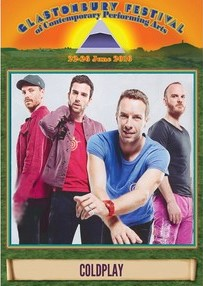 Coldplay Glastonbury Festival U.K 2016