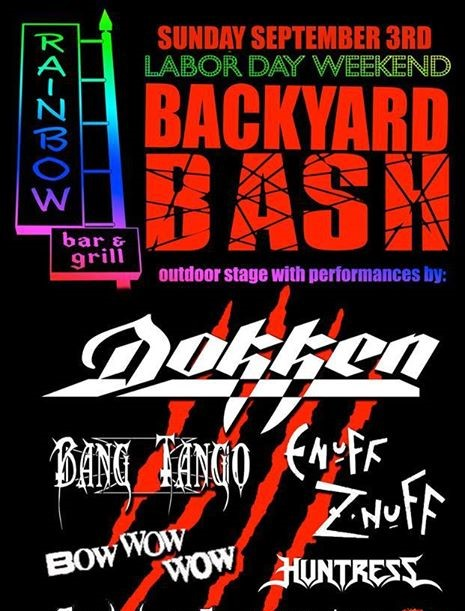 Dokken Rainbow Bash Bacyard Bar And Grill Hollywood CA 2017
