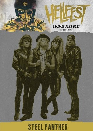 steel panther Hellfest Festival, France 2017