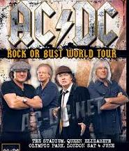 Ac/dc Rock Or Bust Tour Queen elizabeth Park London 2016n Germany 2015